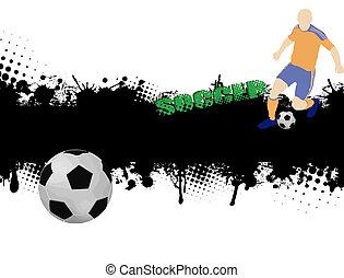 ポスター, サッカー, グランジ