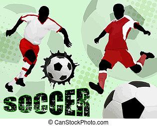 ポスター, サッカー, デザイン