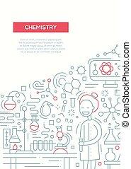 ポスター, -, デザイン, a4, テンプレート, パンフレット, 線, 化学