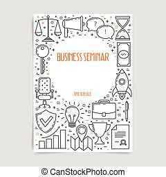 ポスター, ビジネス セミナー