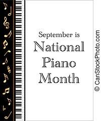 ポスター, ピアノ, 月