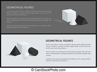 ポスター, ベクトル, 数字, イラスト, 幾何学的