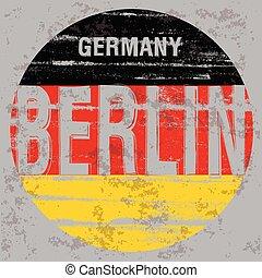 ポスター, ベルリン, 写実的な 設計, ティー