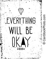 ポスター, 単純である, 型, 動機づけである, グランジ, ダイヤモンド, sc, doodles