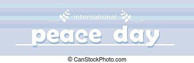 ポスター, 平和, インターナショナル, 世界, 休日, 旗, 日