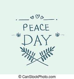 ポスター, 平和, 地球, 世界, インターナショナル, 休日, 日