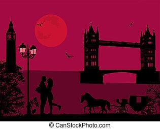 ポスター, 恋人, ロンドン