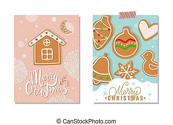 ポスター, 挨拶, ホリデー, メリークリスマス, 幸せ