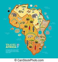 ポスター, 旅行, アフリカ