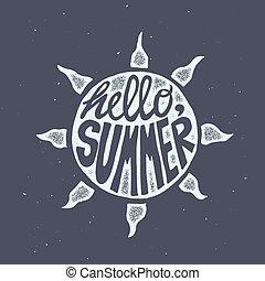 ポスター, 旅行, 動機づけである, 太陽