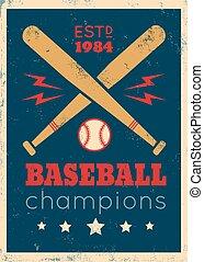ポスター, 野球