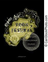 ポスター, 金属, 岩, セッション, 音楽, template.