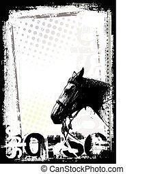 ポスター, 馬, 背景