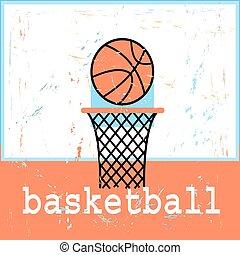ポスター, basketboll