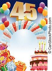 ポスター, birthday, forty-fifth
