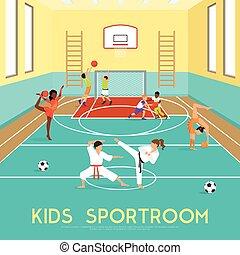 ポスター, sportroom, 子供
