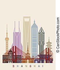 ポスター, v2, 上海, スカイライン