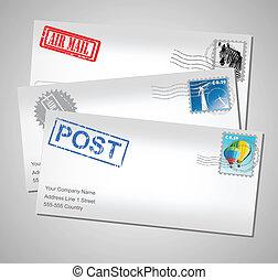 ポスト, 封筒
