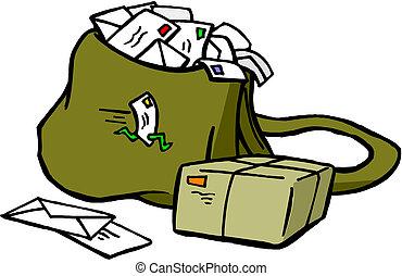 ポスト, 袋, ∥で∥, 手紙, そして, ポスト 箱