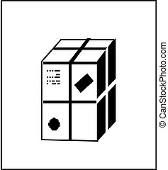 ポスト, box., vector.