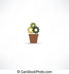 ポット, 花, アイコン
