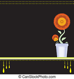 ポット, 花