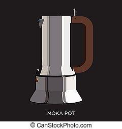 ポット, moka