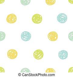 ポルカ, pattern., seamless, 点