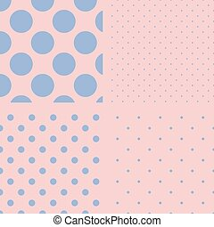 ポルカ, set., pattern., seamless, 点