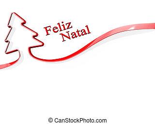 ポルトガルの言語, 木, メリークリスマス, リボン