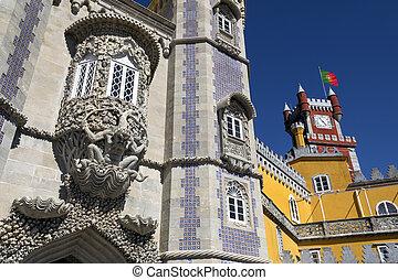 ポルトガル, 宮殿, 国民, sintra, pena, リスボン