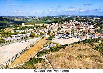 ポルトガル, 水路, 光景, obidos, 航空写真, usseira