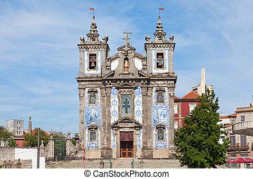 ポルトガル, porto, 教会, ildefonso, santo