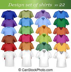 ポロ, 男性, カラフルである, tシャツ