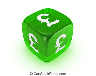 ポンド, 緑, さいころ, 半透明, 印