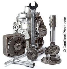 ポンプ, 圧力, 道具, 修理, 高く, 部分, 自動車