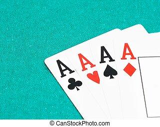 ポーカー, エース, カード, 概念, の, ポーカー, ゲーム
