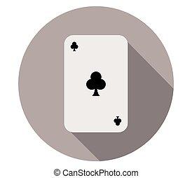 ポーカー, カード, アイコン