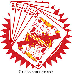 ポーカー, ギャンブル, ギャンブル, カード, グラフィック