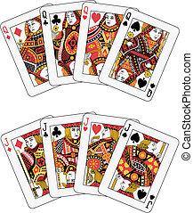 ポーカー, ジャッキ, 女王