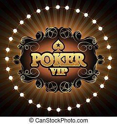 ポーカー, ベクトル, vip, 金