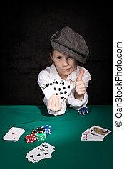 ポーカー, 子供, 組合せ, 勝利