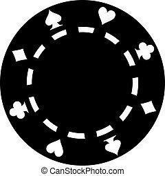 ポーカー, 黒, チップ