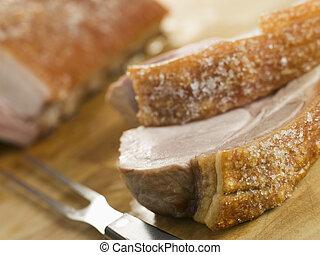 ポーク, シャキッとした, 腰肉, 焼き肉, クラックリング