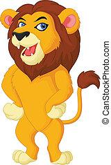 ポーズを取る, ライオン, カートン