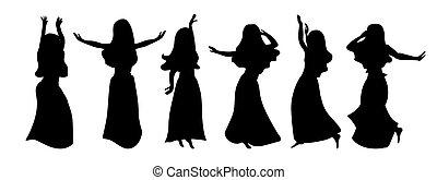 ポーズを取る, 6, 衣装, restful, 美しい, 白, 美, 女の子, dance., 優美である, 別, ...