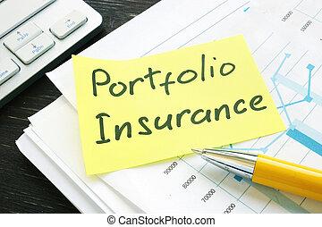 ポートフォリオ, 山, 保険, papers., ビジネス, メモ, 投資