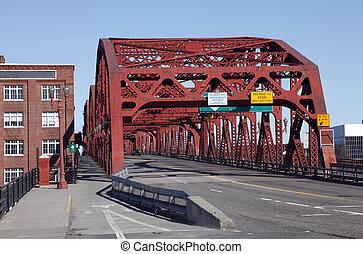 ポートランド, or., broadway, 橋