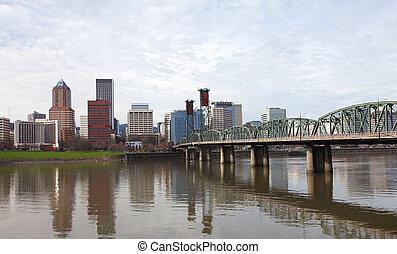 ポートランドor, bridge., hawthorne, &