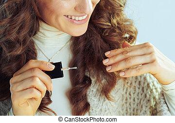 ポーランド語, 釘, 主婦, クローズアップ, 幸せ, 流行, 適用